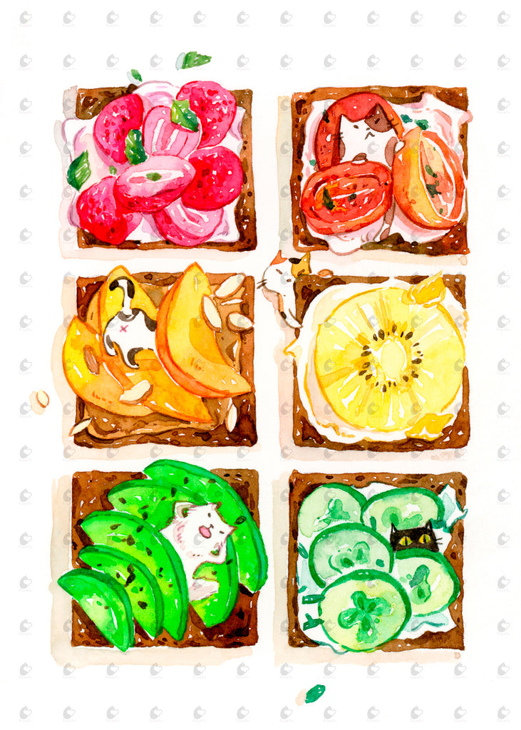 Rainbow Toasts