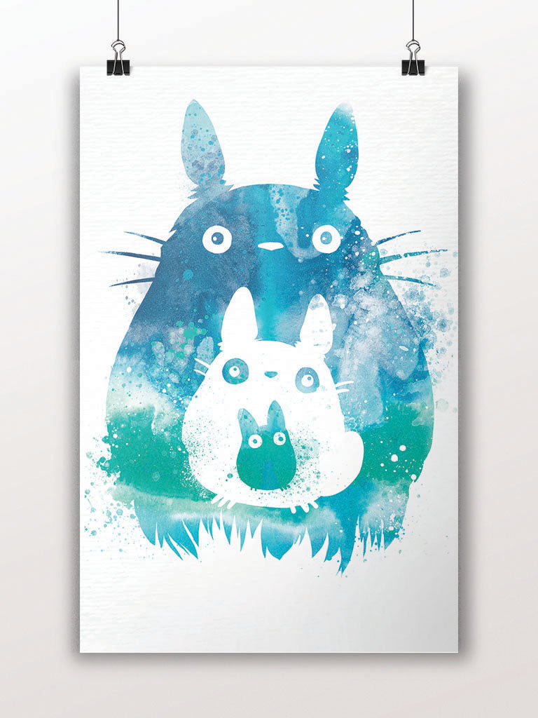 Totoro and Mini Totoros Poster