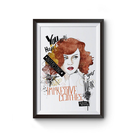 PenelopeLovePrints Vivienne Westwood Fashion Quote Watercolor Illustration prints - 1