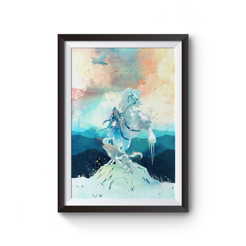 Zelda Breath of the Wild Watercolor Poster