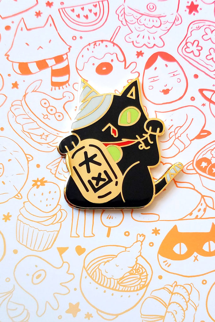 Bad Luck Cat Enamel Pin