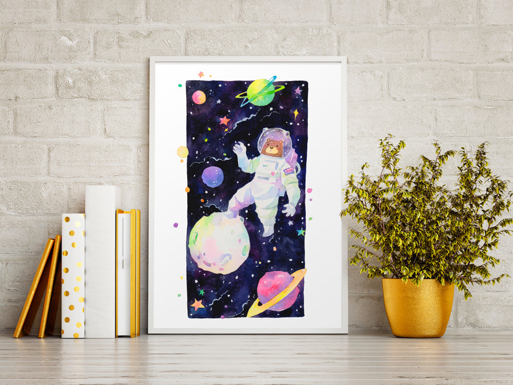 Bearstronaut Space Art