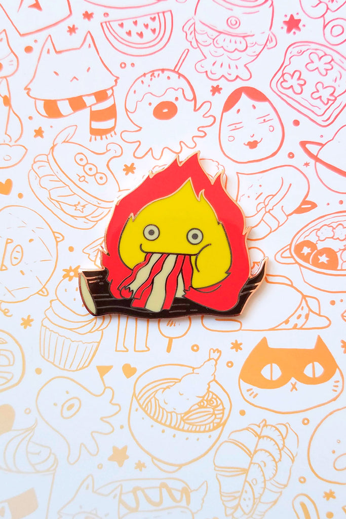 Calcifer Bacon Enamel Pin