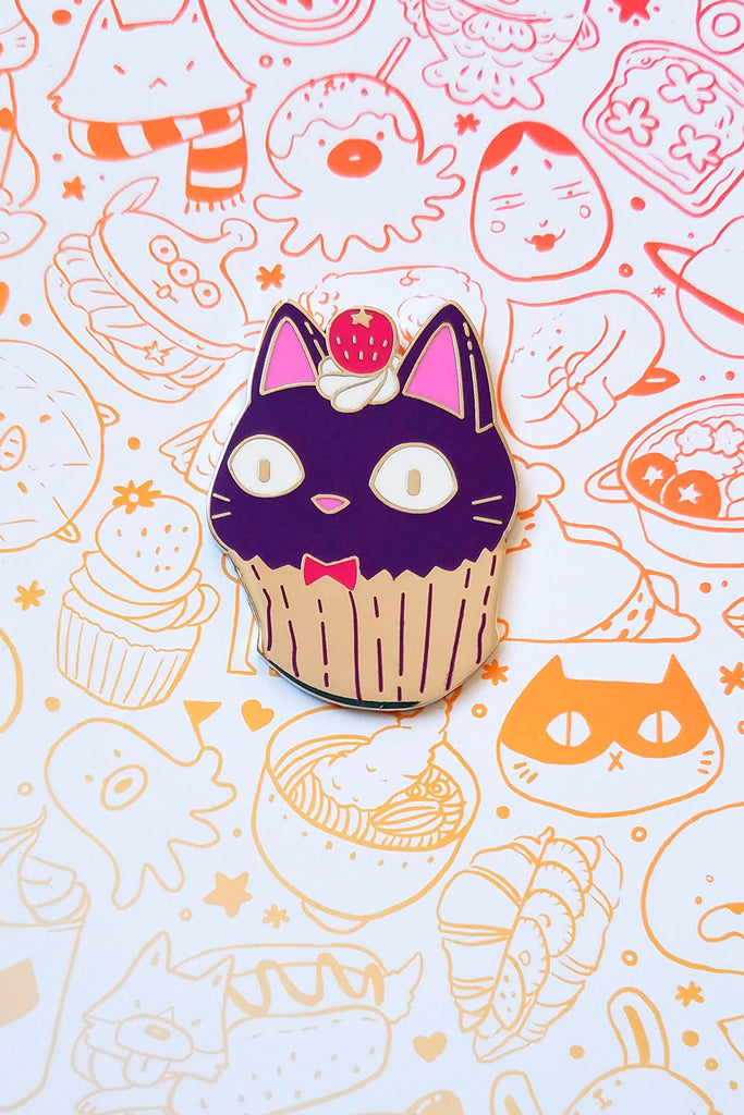 Jiji Cat Cupcake Enamel Pin