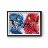 PenelopeLovePrints Captain America VS Iron Man Poster Print prints - 1