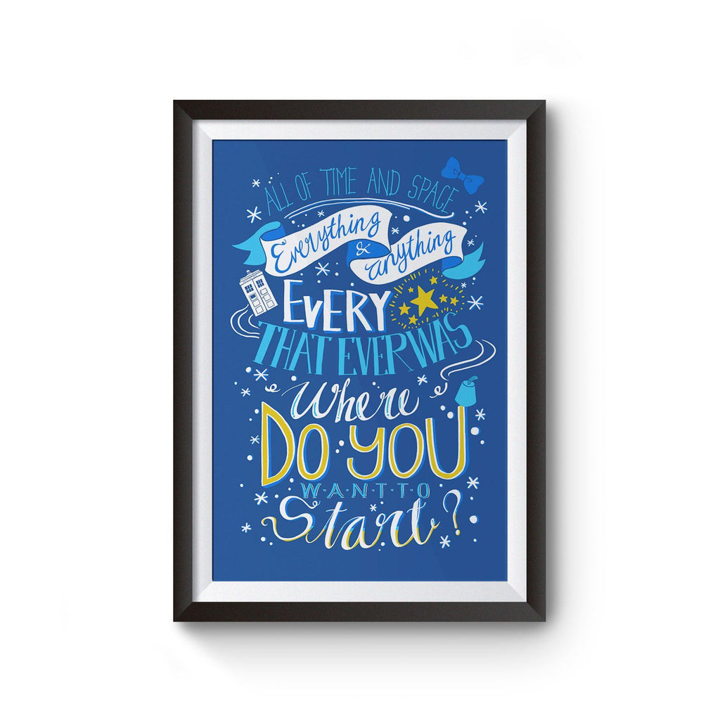 PenelopeLovePrints Doctor Who 11th Doctor Quote poster prints - 1