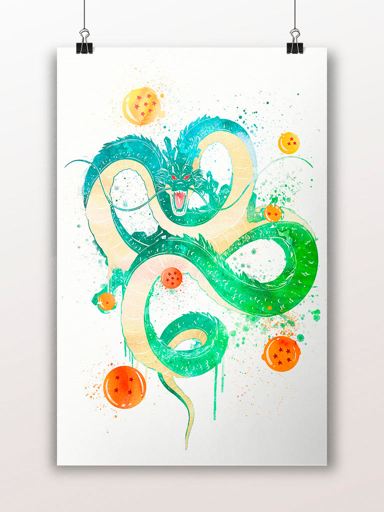 Dragon Ball Shenron Watercolor Poster