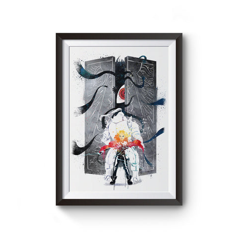 Fullmetal Alchemist Watercolor Art Poster