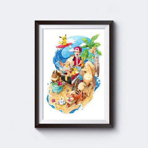 PenelopeLovePrints Pokemon Beach Walk prints - 1