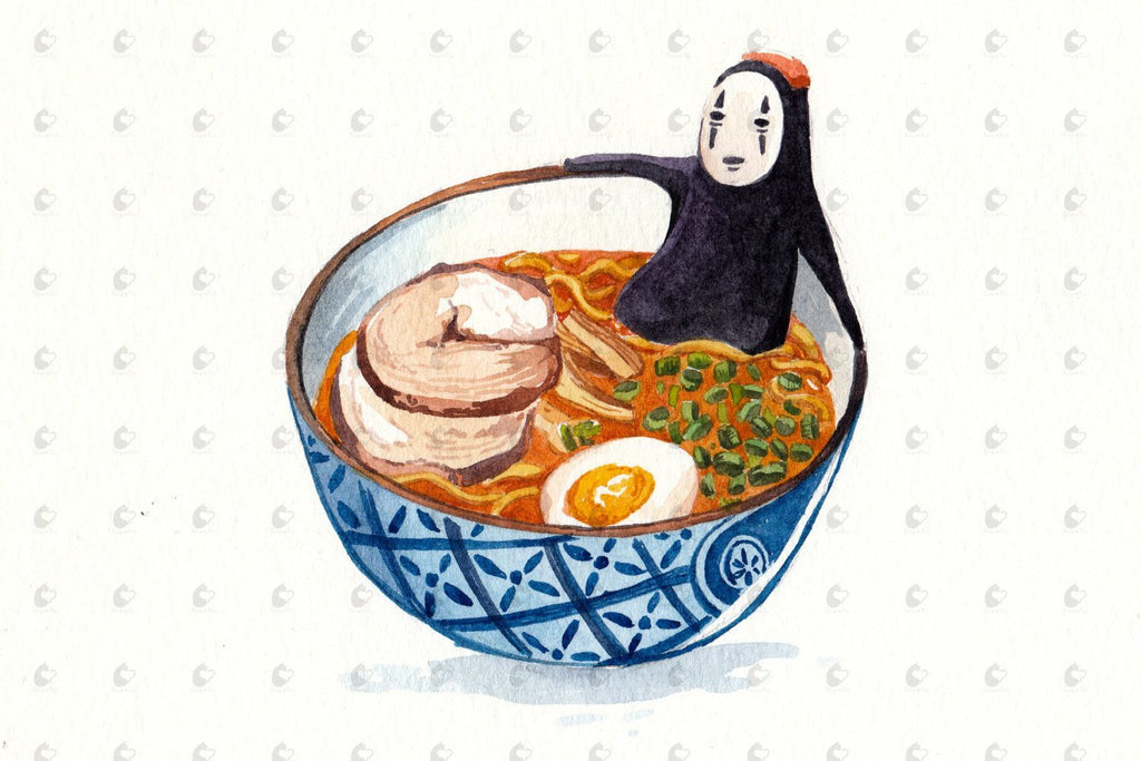 PenelopeLovePrints Spirited Away No Face Ramen Poster prints - 2