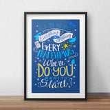 PenelopeLovePrints Doctor Who 11th Doctor Quote poster prints - 2
