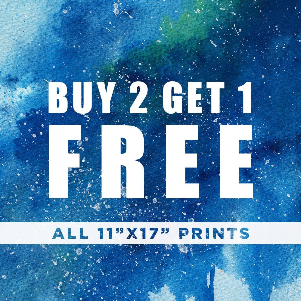 PenelopeLovePrints FREE PRINT! All 11x17 Prints, Buy 2 Get 1 FREE! Purchase 2 prints, Get the 3rd print For Free! prints