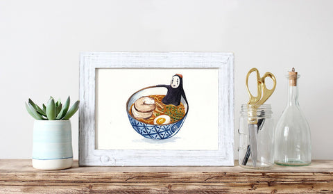 PenelopeLovePrints Spirited Away No Face Ramen Poster prints - 1