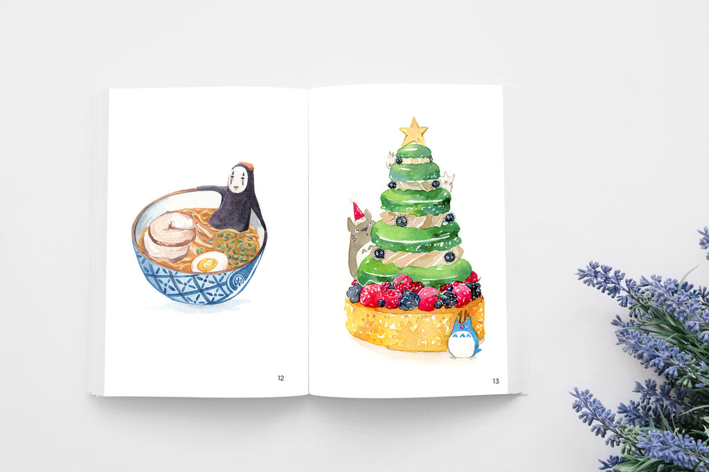 Watercolor Artbook 2016-2017 With Exclusive Art Print And Custom Doodle