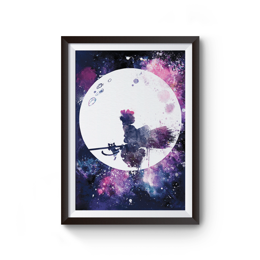 PenelopeLovePrints Kiki Flying Over Moon Poster prints - 1