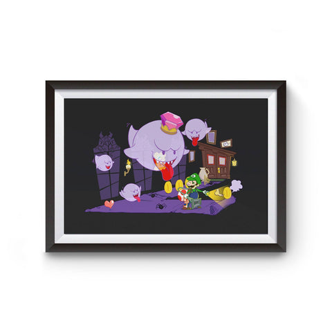 PenelopeLovePrints Luigi's Mansion Poster prints - 1