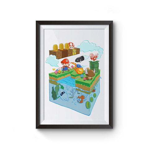 PenelopeLovePrints Mario Adventure Poster prints - 1