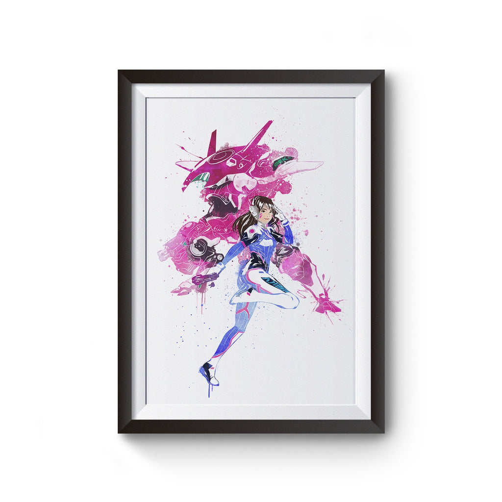 Overwatch D.Va Watercolor Poster