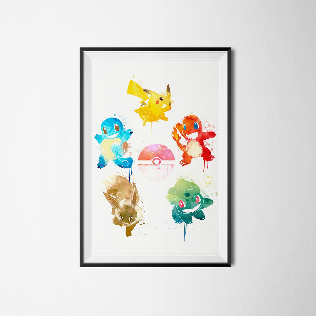 PenelopeLovePrints Pokemon feat. The Five Elements Poster prints - 1