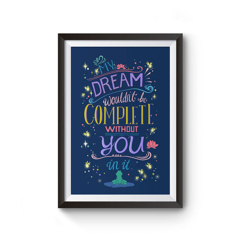 PenelopeLovePrints Disney Princess and the Frog Quote Typography Poster Art Print prints - 1