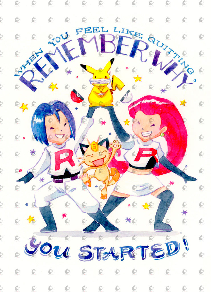 Pokemon Team Rocket Remember Your Start Quote