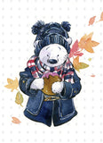 PenelopeLovePrints Winter Bear in Autumn prints - 2