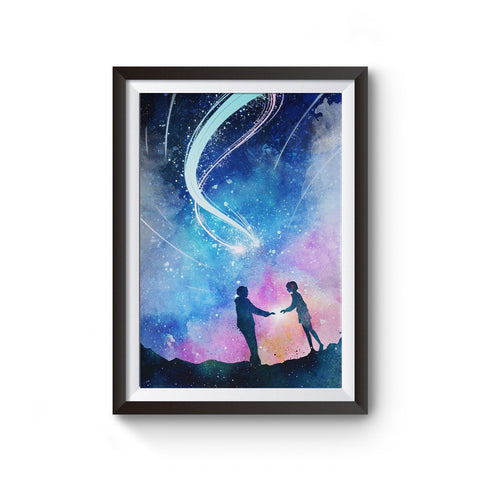 Your Name Watercolor Poster