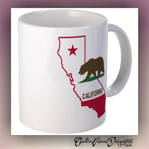 California - state coffee mug - custom coffee mug - coffee lover gift - - CreativeStudio805