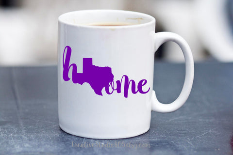 home - State of Texas -  coffee mug - cute coffee cups - unique coffee mug - personalized coffee mug - girly mug - love coffee mug