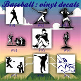 BASEBALL vinyl decals - 91-99 - vinyl sticker - custom car window decal - team sports decals - car decal - personalized stickers - CreativeStudio805