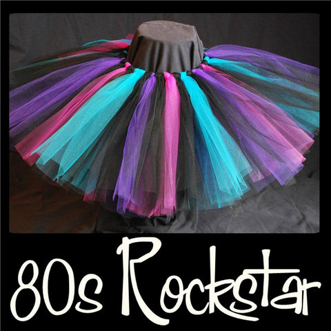 80s ROCKSTAR - baby - handmade tutu skirts - first birthday tutu - tutus - tutu dress - shimmery tutu - glitter tutus - party tutu