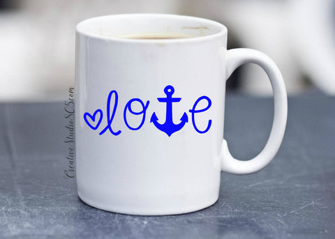 Anchor Love | Coffee Mug | Cute Coffee Mug | Coffee Cup | Funny Coffee Mugs | Inspirational Quotes on Mugs | SUBLIMATION Design - CreativeStudio805