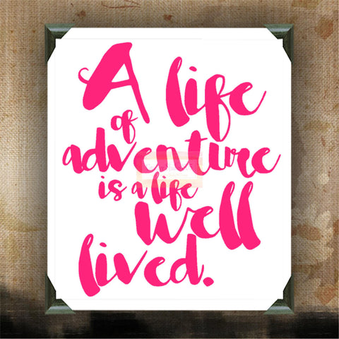 "A Life of Adventure is a life well lived  | decorated canvas | wall hanging | wall decor | girly quotes | 12"" x 12"" - CreativeStudio805"