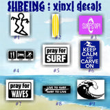 SURFING vinyl decals - 10-18
