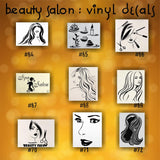 BEAUTY SALON vinyl decals - 64-72 - personalizable vinyl stickers - custom car window stickers - car decal - car sticker - CreativeStudio805