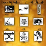 BEAUTY SALON vinyl decals - 136-144 - vinyl stickers - custom car window stickers - car decal - car sticker - beauty shop - spa - CreativeStudio805