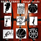 BASKETBALL vinyl decals - 19-27 - bball stickers - hoops car decal - custom window decal - personalized sticker - CreativeStudio805