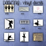 DANCING vinyl decals - 109-117 - dancing vinyl decal - car window sticker - car decal - car sticker - personalized stickers