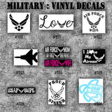MILITARY vinyl decals - 91-99 - vinyl sticker - custom vinyl decal - personalized stickers - Army, Air Force, Navy and Marines