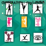 CHEERLEADING vinyl decals - 136-144 - cheerleader - cheer - pompoms - vinyl stickers - car decal - custom vinyl sticker - CreativeStudio805