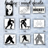 HOCKEY vinyl decals  - pg #11 - personalizable vinyl stickers - car window stickers