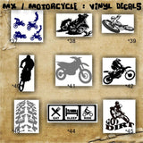 MX / MOTORCYCLE / BMX pgs #5 - #7 - personalizable vinyl decals