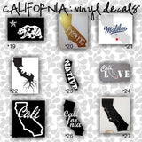 CALIFORNIA vinyl decals - 19-27 - car window sticker - custom california car sticker - personalized decal - car sticker - CreativeStudio805