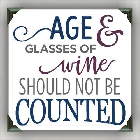 "AGE and WINE Painted/Decorated 12""x12"" Canvases - you pick colors - CreativeStudio805"