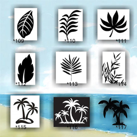 TROPICAL LEAVES vinyl decals - 109-117 - tropical leaf - palm tree leaves - fern leaf - tropical foliage - stickers - decals