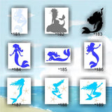 MERMAID vinyl decals - 181-189 - personalized vinyl sticker - car window sticker - wall sticker