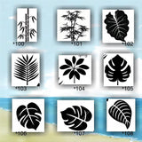TROPICAL LEAVES vinyl decals - 100-108 - vinyl stickers - tropical leaf - palm tree leaves - fern leaves - tropical foliage - stickers