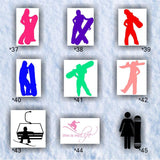 SNOWBOARDING #37-45 - vinyl decals - personalizable and mulitple colors available