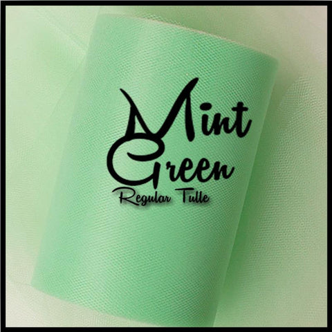 MINT GREEN premium nylon tulle - 25 Yard Rolls - other colors and sizes also available