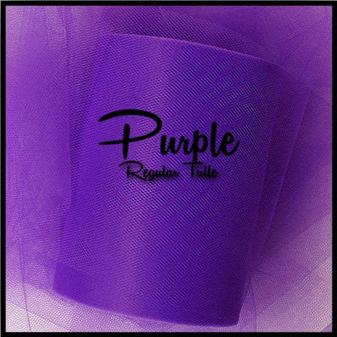 PURPLE premium nylon tulle - 25 Yard Rolls - other colors and sizes also available